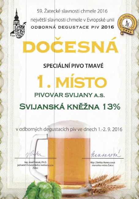 Svijanská Kněžna, diplom Dočesná