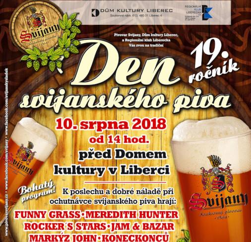 Den Svijanského piva v Liberci 10 srpna 2018
